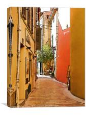 Streets of old St Tropez 2, Canvas Print
