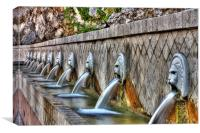 Spili Fountain, Canvas Print