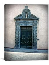 Ornate entrance, Canvas Print