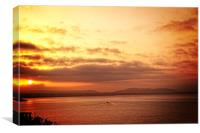 Cretan sunrise, Canvas Print