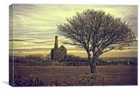 Twilight tin mine, Canvas Print