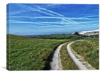 Up on the downs, Canvas Print