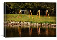 Playground at Silent Valley..., Canvas Print