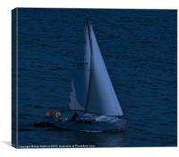Moonlite Sail, Canvas Print