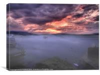Light mist over Windermere, Canvas Print