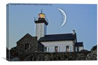 Lighthouse HDR & New Moon effect, Canvas Print