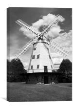 Upminster Windmill Mono, Canvas Print