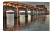 Kincardine Bridge at sunset, Canvas Print