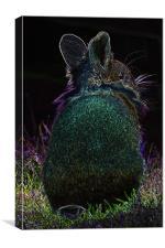 Glow in the dark rabbit, Canvas Print