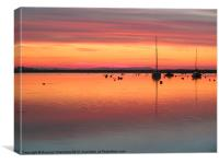 Christchurch Sunrise, Canvas Print