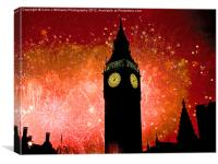Big Ben - New Years Eve, Canvas Print