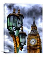 Big Ben And Lamp, Canvas Print