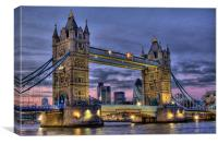 Tower Bridge And The City, Canvas Print
