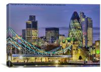 The City Of London, Canvas Print