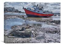 Low Tide Shoreham, Canvas Print