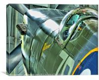 Spitfire MH434 - Duxford, Canvas Print