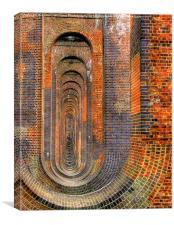 Balcombe Viaduct Pierced Piers 1, Canvas Print