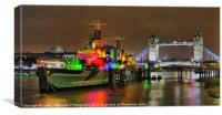HMS Belfast and Tower Bridge, Canvas Print