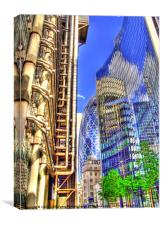 Reflections in the City of London., Canvas Print