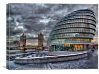 City Hall and Tower Bridge, Canvas Print