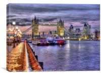 Tower Bridge From Butlers Wharf, Canvas Print