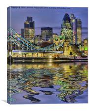 Reflections - The City Of London, Canvas Print