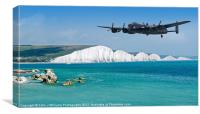 The Lone Lancaster Returns, Canvas Print