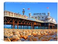 Brighton Beach And Pier, Canvas Print