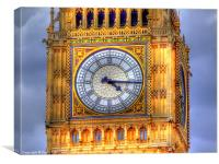 The Face Of Big Ben, Canvas Print