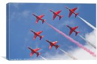 Top Pass - Red Arrows - Dunsfold 2012, Canvas Print