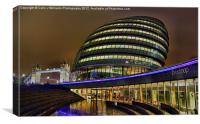 The Scoop and City Hall London, Canvas Print