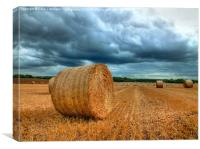 Bales Before The Storm, Canvas Print