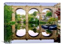 Knaresborough Reflections, Canvas Print