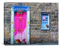 2D Door And Window, Canvas Print