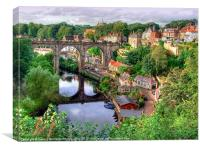 View From The Castle - Knaresborough, Canvas Print