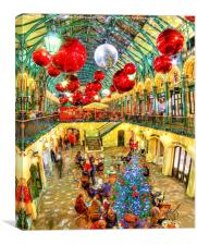 A Festive Covent Garden, Canvas Print