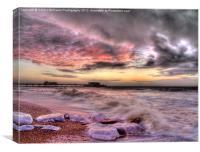 Worthing Beach Sunrise 1, Canvas Print