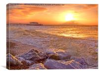 Worthing Beach Sunrise 2, Canvas Print