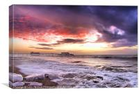Worthing Beach Sunrise 4, Canvas Print