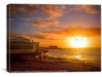 Worthing Beach Sunrise 5, Canvas Print