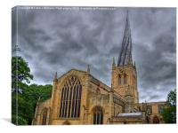 Chesterfield Crooked Spire, Canvas Print