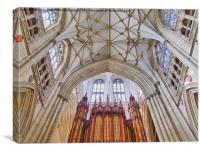 The Organ - York Minster, Canvas Print