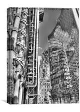 The Lloyds Building - The Gherkin - The Willis Bui, Canvas Print