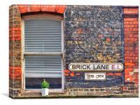 Brick Lane E1, Canvas Print