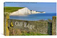 Clff Edge - Seven Sisters, Canvas Print