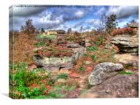 Brimham Rocks North Yorkshire 1, Canvas Print