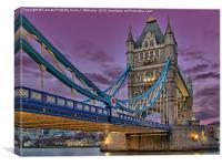 Tower Bridge From Below, Canvas Print