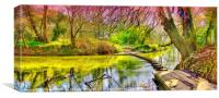 The Stepping Stones - Box Hill, Canvas Print
