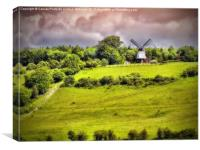 Cobstone Windmill - Turville, Canvas Print