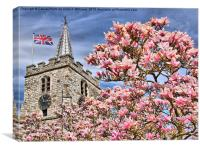 St Lawrence Church - Chobham, Canvas Print